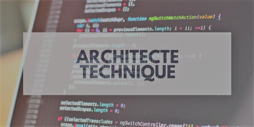 Offre emploi Architecte Technique